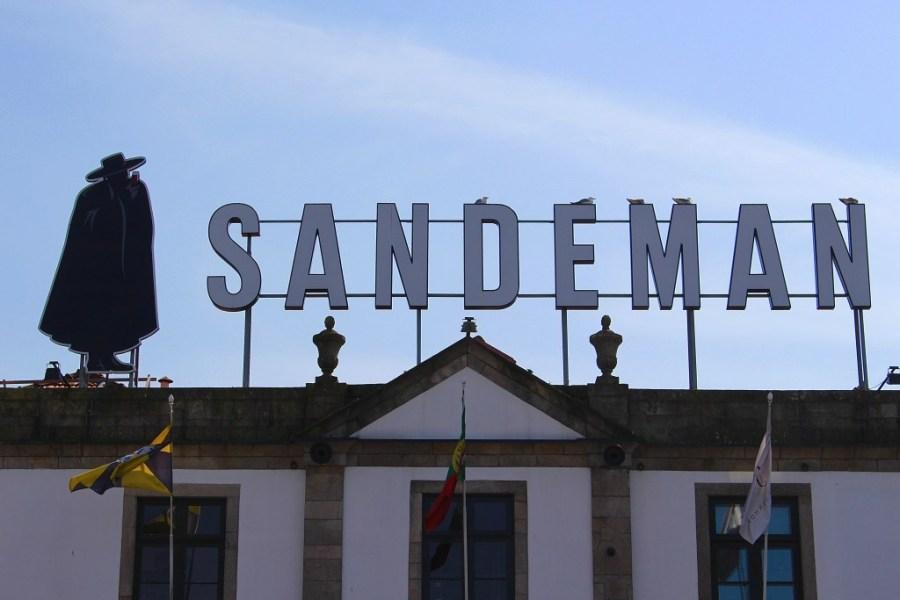 sandeman wine cellar in porto