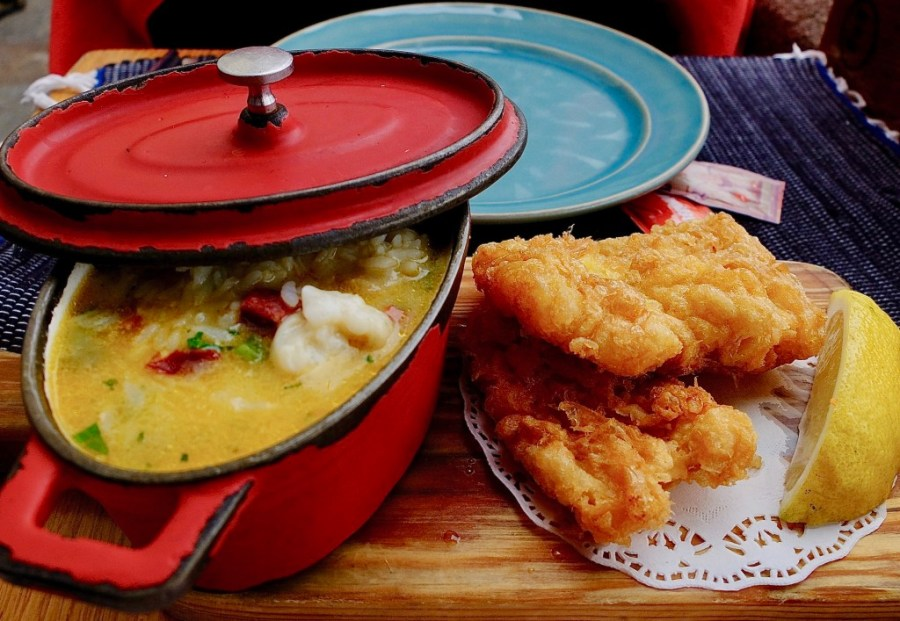 fried cod dish at bacalhau