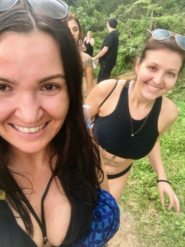 women trekking in the jungle