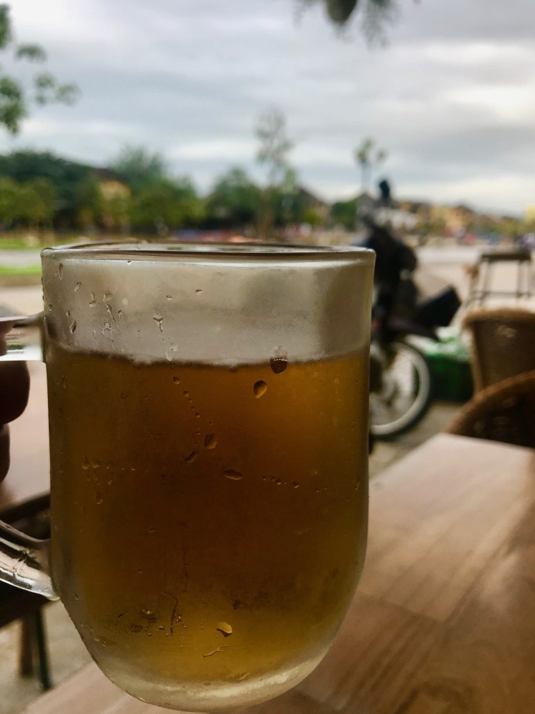 beer with view of river