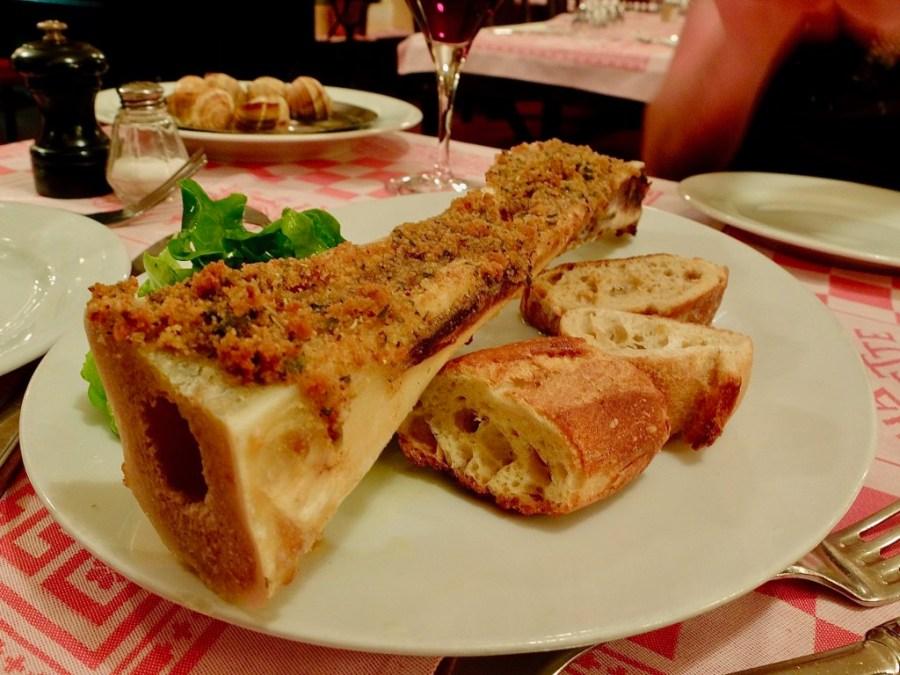 Roasted Bone Marrow on a plate