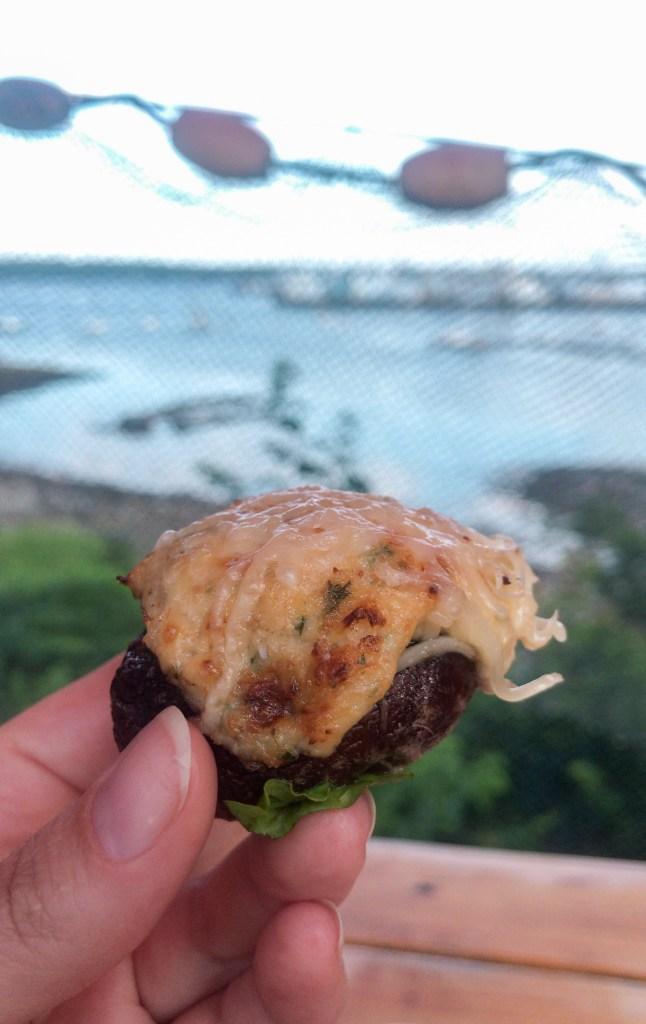 crab stuffed portobello mushroom