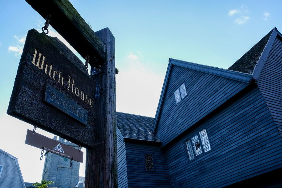 exterior of the witch house in salem