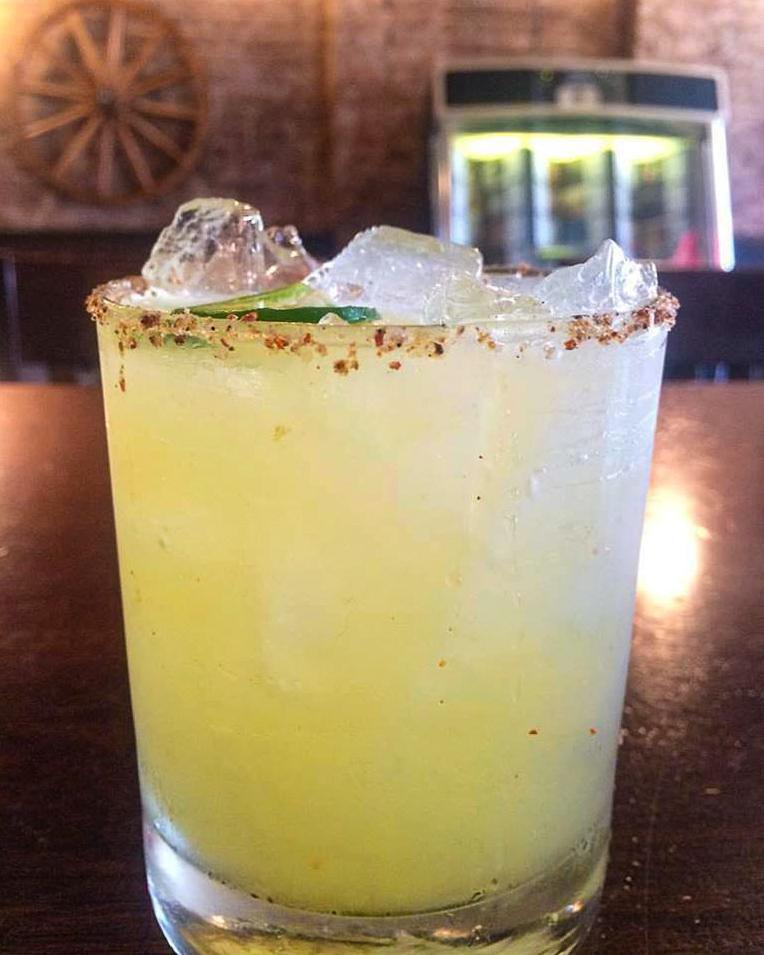 close up of margarita on bar