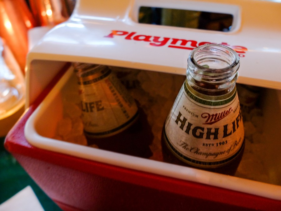 playmate cooler with beers