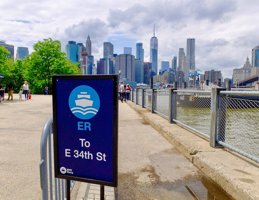 sign for east river ferry