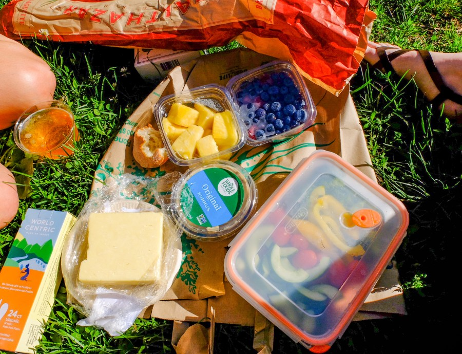 Picnic spread in Central Park