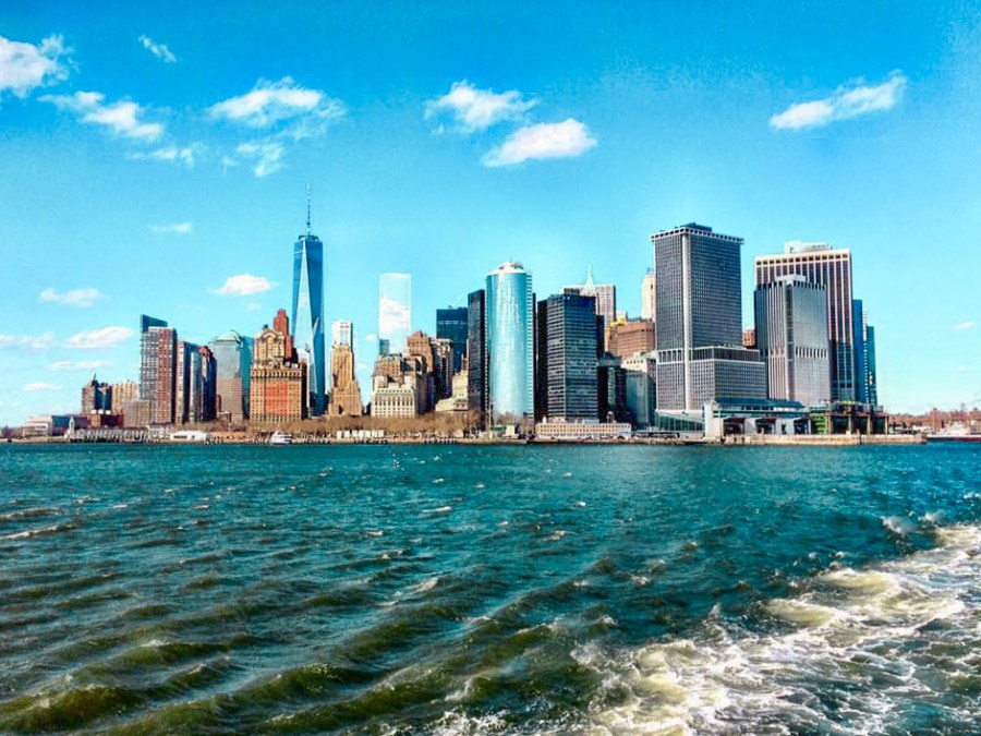 Downtown Manhattan from Staten Island Ferry