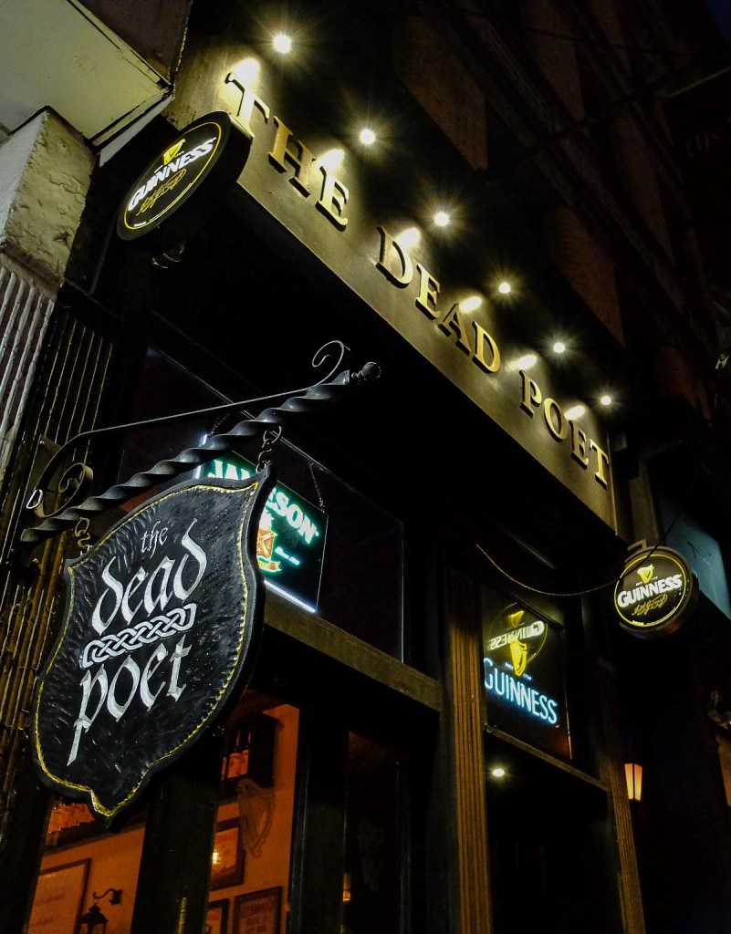 Exterior of the Dead Poet, a unique themed bar in New York City