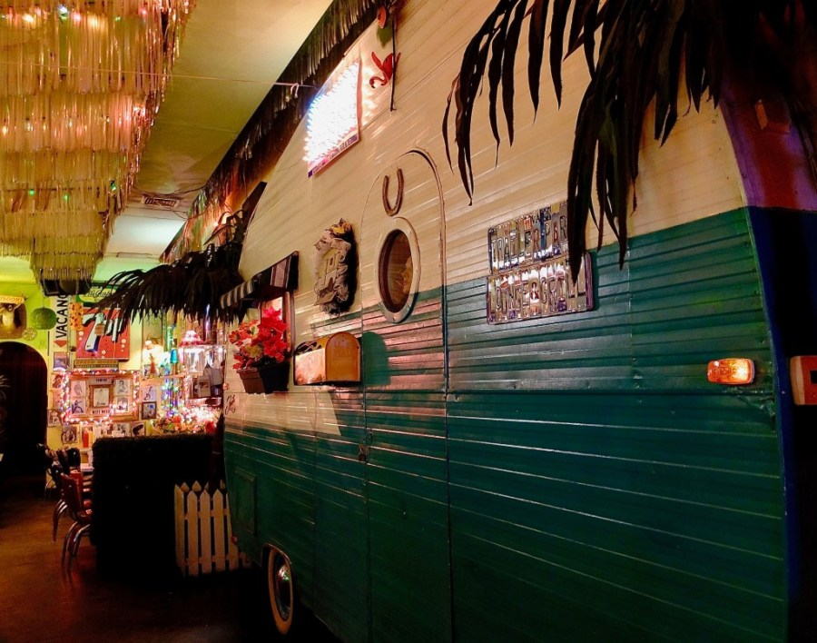 Interior of Trailer Park Lounge, a unique bar in New York City