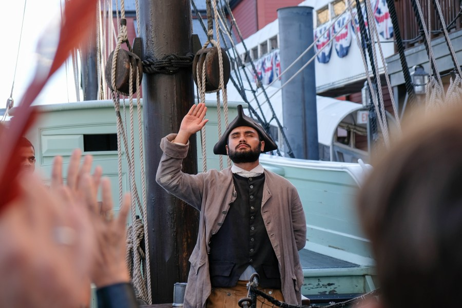 Actor on board the Boston Tea Party Ships and Museum