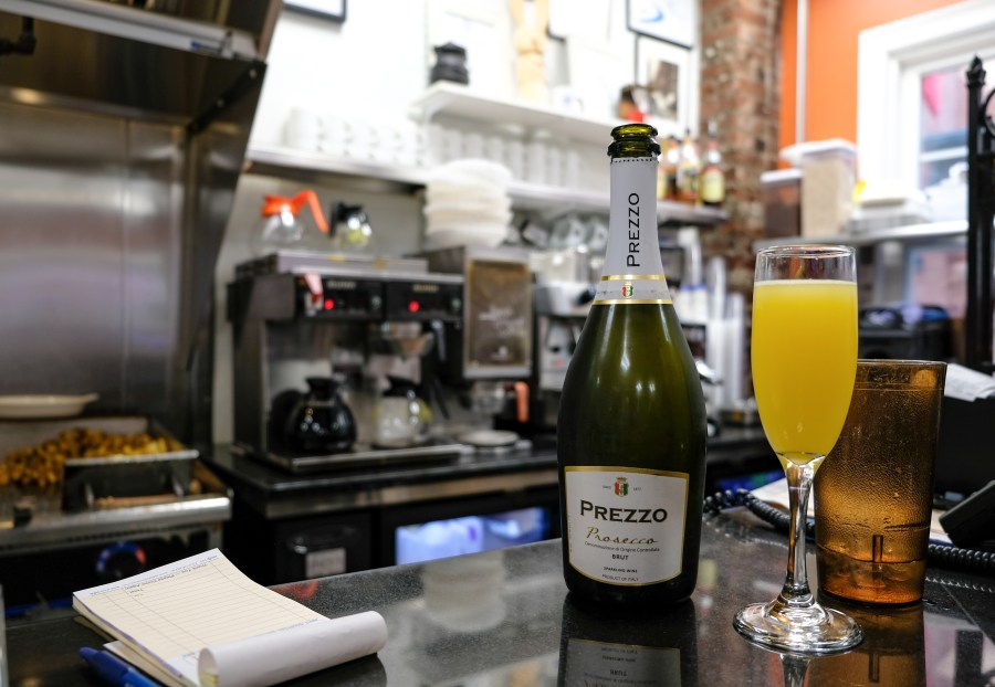 Theo's Cozy Corner counter with mimosa