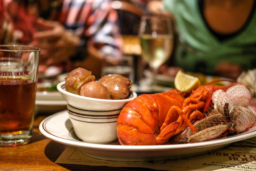 Full Lobster dinner at Union Oyster House