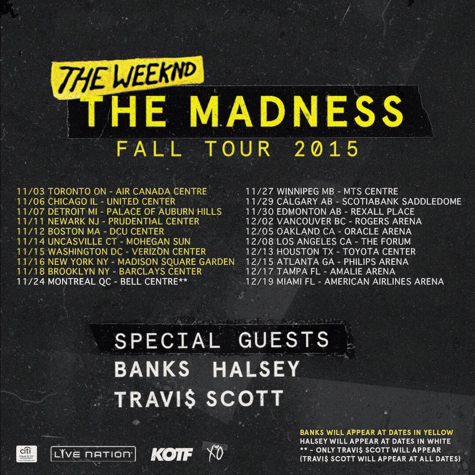 Complete Madness Tour Dates