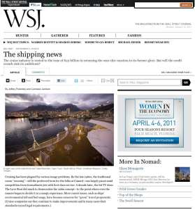 Jonathan Kingston's photography featured in Wall Street Journal Magazine