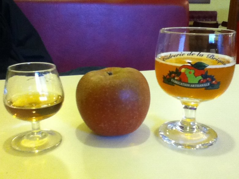 Normandy is famous for apples, and for the drinks made from them - vegan in Normandy