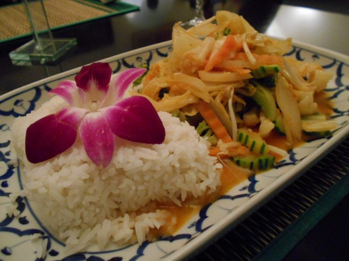 Vegetable Panang curry, Teria Thai Restaurant, Chur, Graubunden, Switzerland