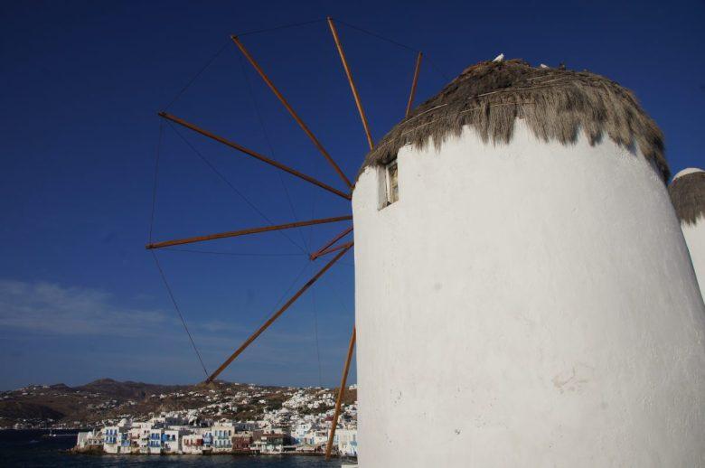 Windmills in Mykonos, Greece