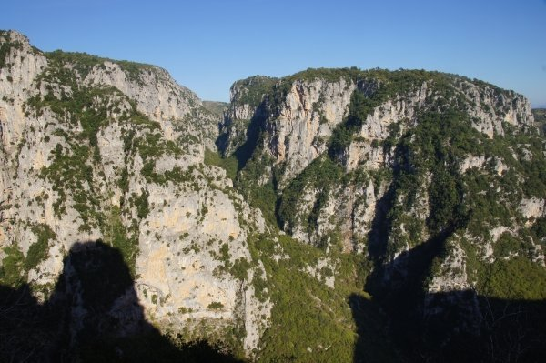 Hiking in the Vikos Gorge in Greece