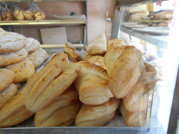 Vegan pastries at Panificio Garbo Giorgio in Burano near Venice