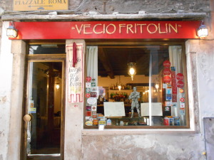 Vegan-friendly Vecio Fritolin restaurant in Venice, Italy