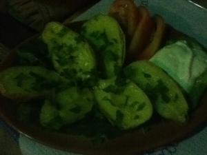 Vegan oven-roasted potatoes in Loutro, Crete
