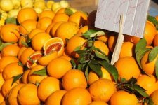 Tarocco oranges in the Siracusa market