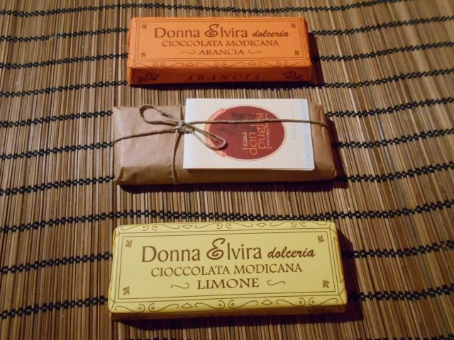 Chocolate from Modica, Sicily