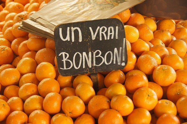 Oranges in the Toulouse market