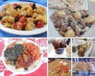 Vegan food at Expo Milan collage