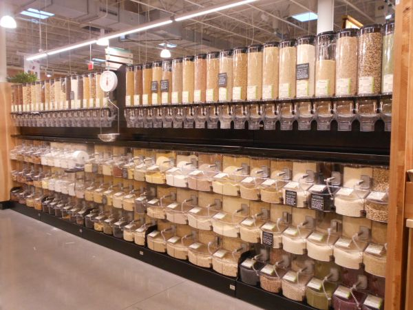 Save on packaging by buying in bulk at Whole Foods