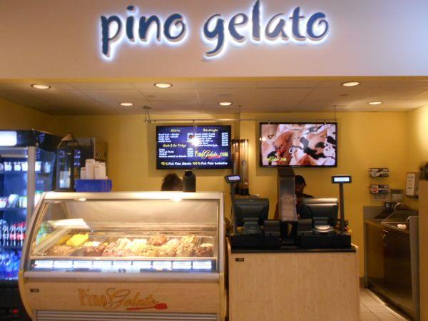 Pino Gelato  - vegan food in the Atlanta Airport