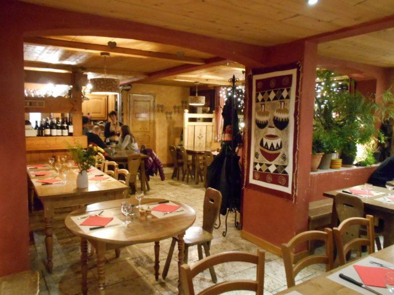 Le Tremplin Restaurant, Chamonix - vegan skiing