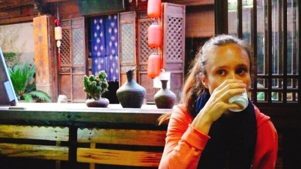 Relaxing with a cup of tea - Living The China Study