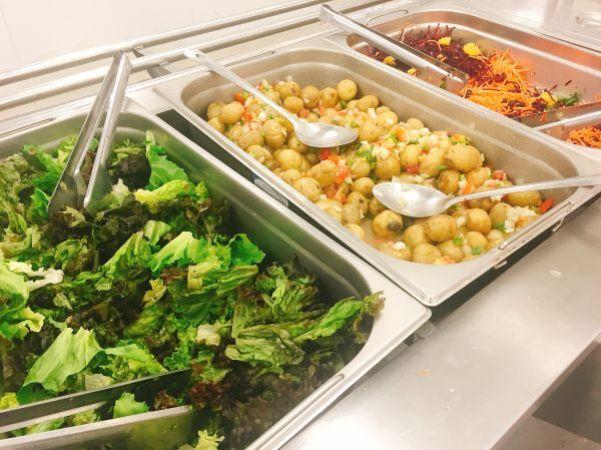 Salad bar at Rio 2016 - vegan stories