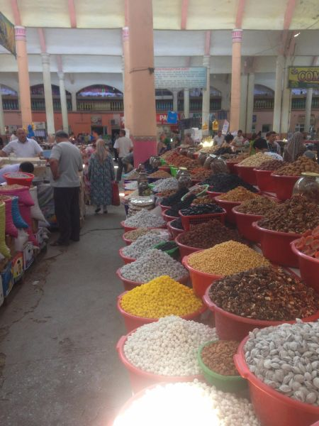 Central Asian bazaar - how to be vegan on the Mongol Rally