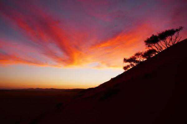 sunset - tour of Namibia