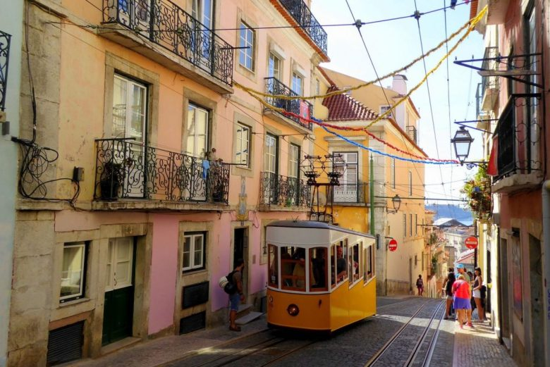 Lisbon Funicular - vegan tours of Portugal