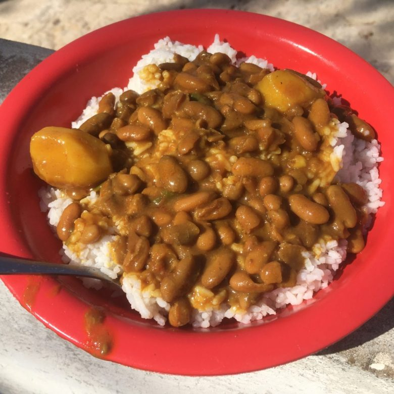 Feijão e arroz – rice and beans - tasty African food
