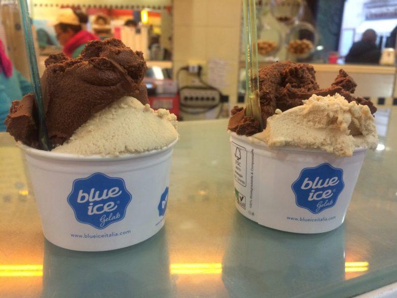Blue Ice vegan gelato Rome