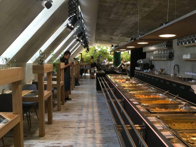 vegetarian buffet restaurant Olomouc Czech Republic