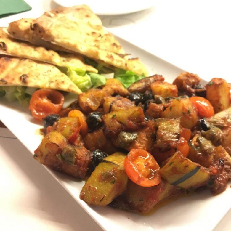 Origano caponata - vegan Rome dining