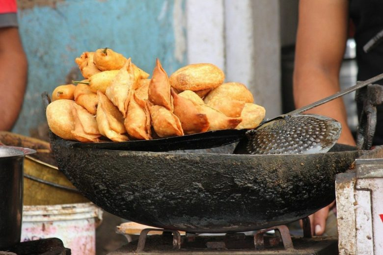 fried street snacks - vegan Indian cooking