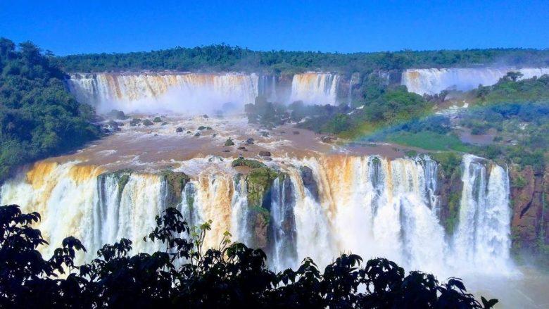 panorama iguazu falls brazil side