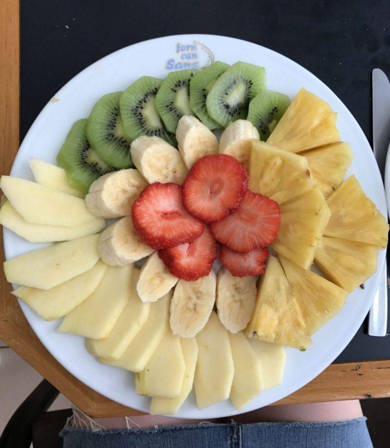 fruit - typical Cuban vegan breakfast