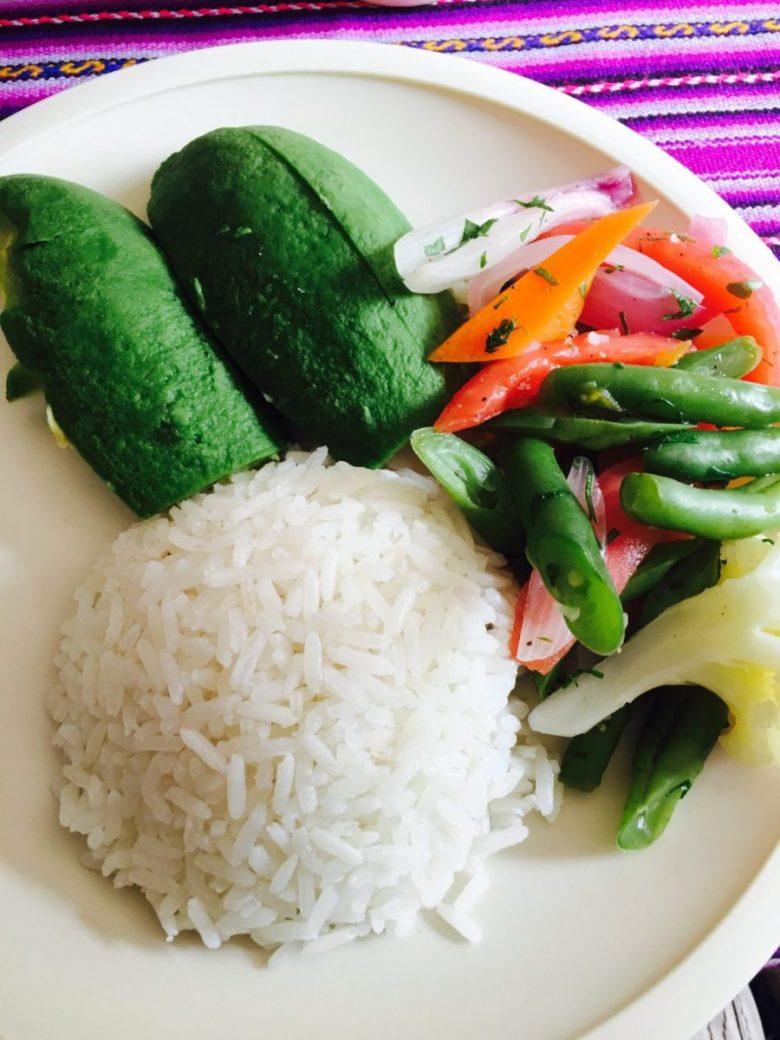 First Vegan Meal on the Hike to Machu Picchu