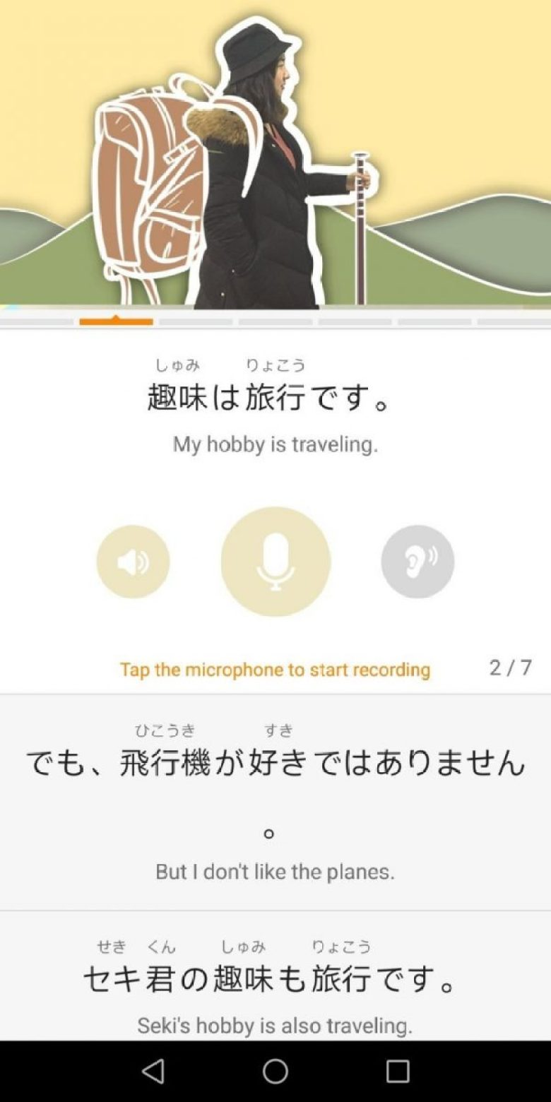 Lingodeer app - useful phrases for traveling
