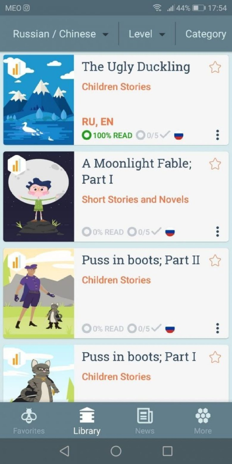 Beelinguapp - learn a language through reading and listening