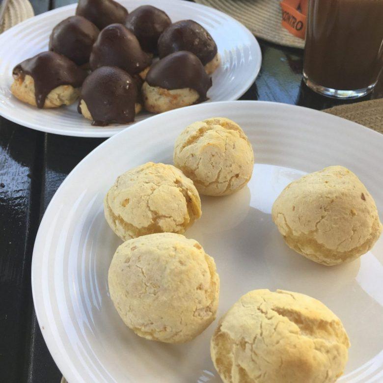 Savory and Sweet:  Pão de Queijo and Carolinas for brunch
