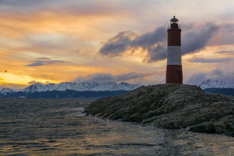 The famous lighthouse of Ushuaia, Argentina